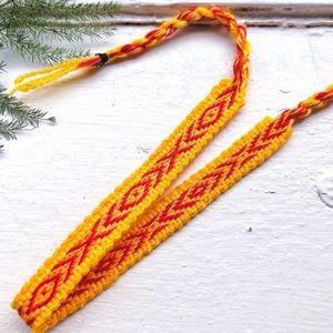 Jewelry - $4 BUNDLED❥ Mustard/Red Boho Woven Bracelet
